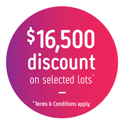$16,500 discount on selected lots