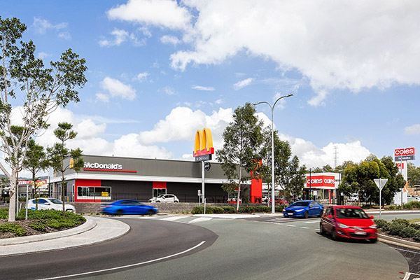 Coles Supermarket and McDonald's